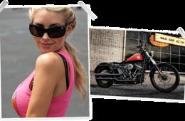 Play Boy playmate et Harley Davidson