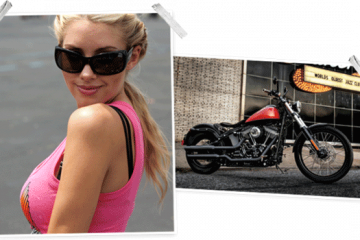 Play Boy playmate et Harley Davidson