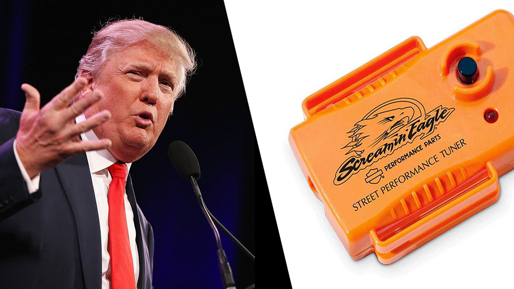 donald trump harley davidson supertuner