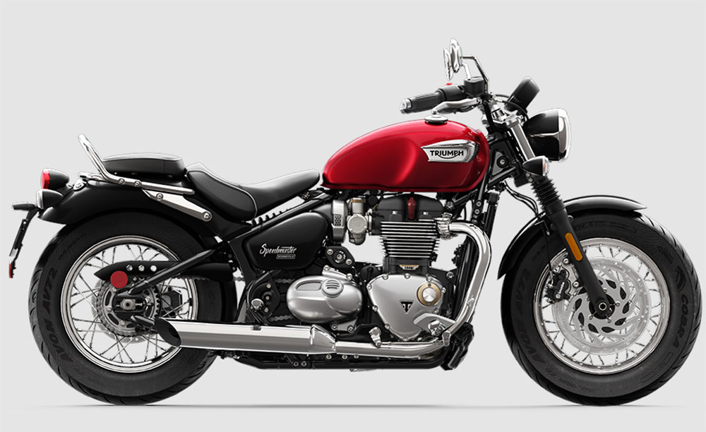 triumph red speedmaster