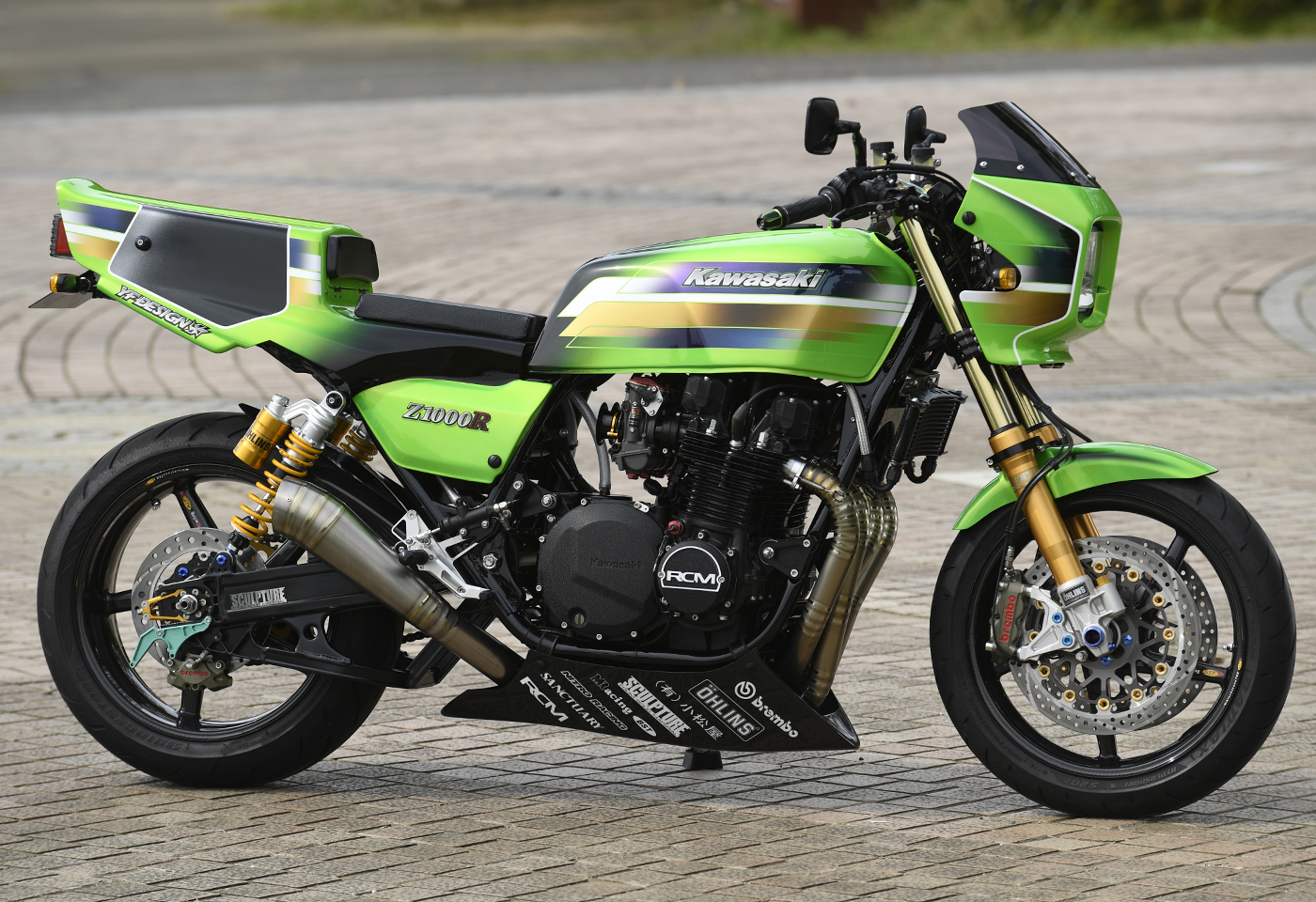 EICMA 2017 - Kawasaki dévoile une Z900 RS Cafe.