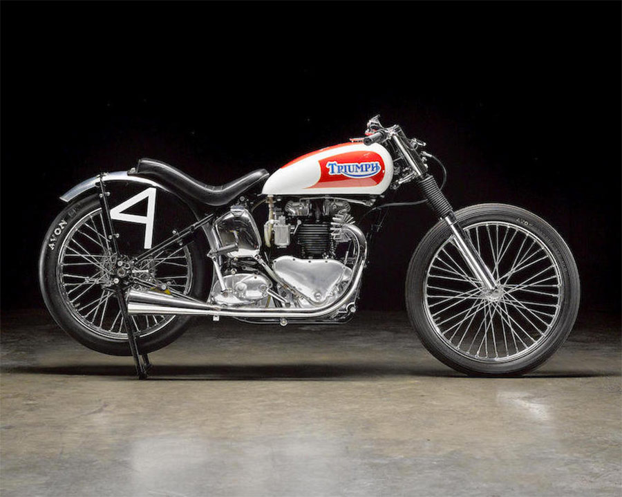 Sirkegian racer triumph 650 cc thunderbird
