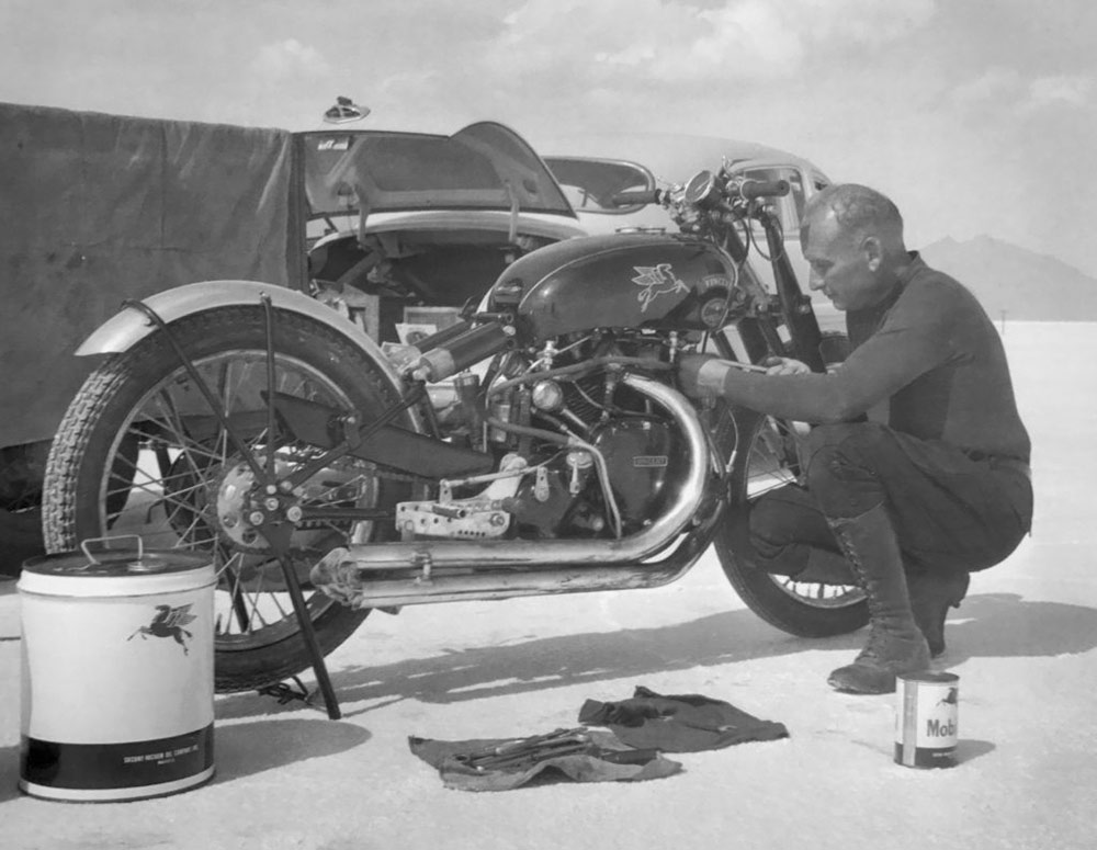 rollie free vicent bonneville 1948