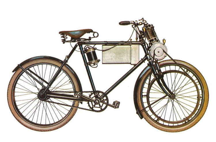 premiere moto de l'histoire