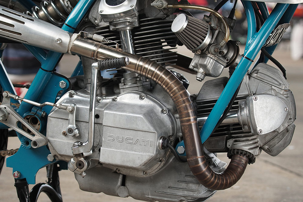 L-Twin Ducati square engine