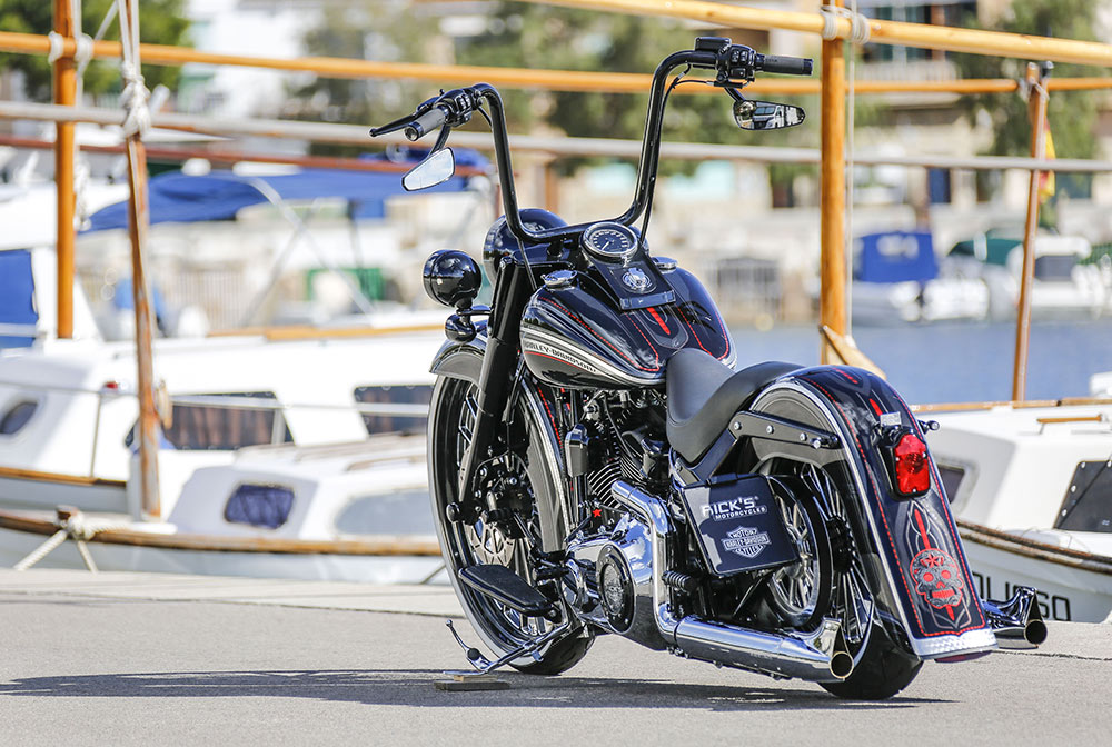 harley-davidson softail chicano style