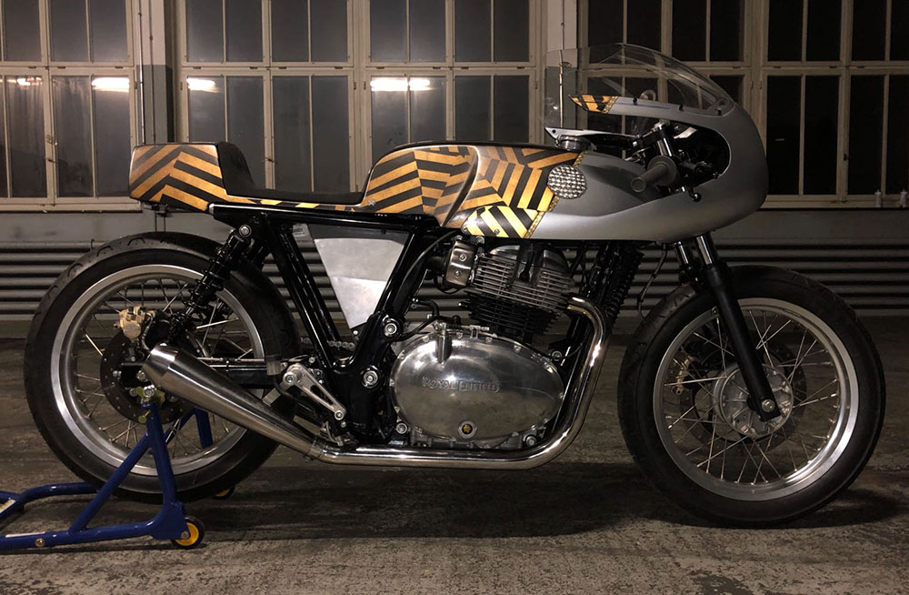royal enfield 650 customized café racer