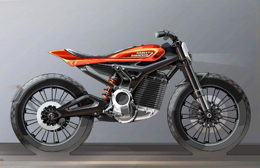 scrambler électrique moto harley
