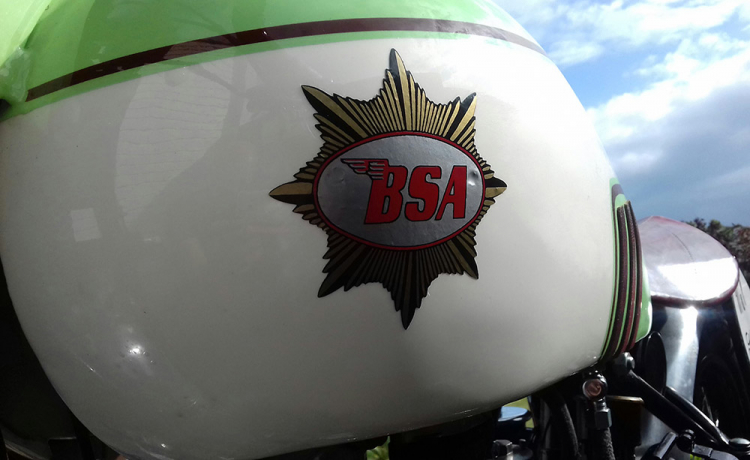 BSA british bike logo empire star