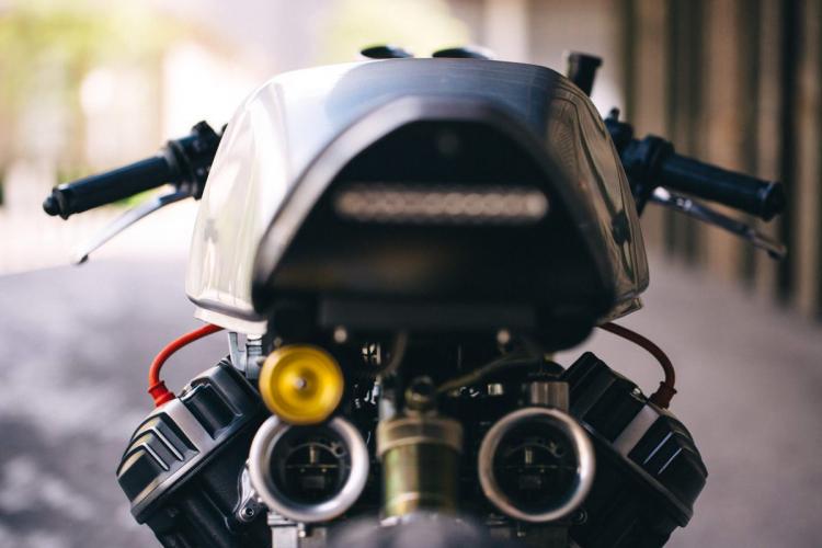 Honda CB 650 café racer LEDs