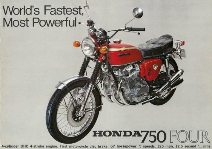 publicité CB750 Honda