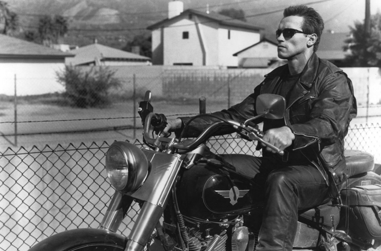 Arnold Schwarzeneger perfecto schott & fat boy