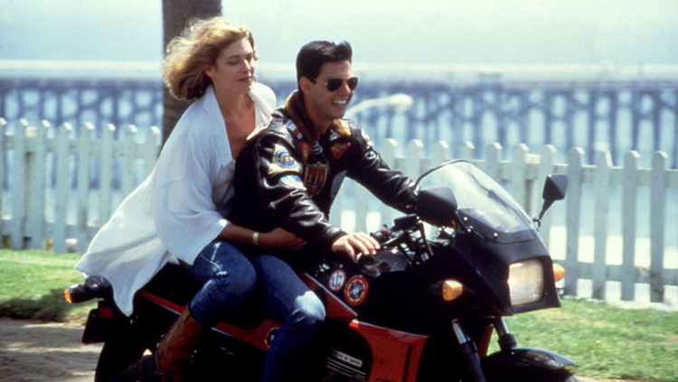 Tom cruise Top Gun Kawasaki GPZ 900 R