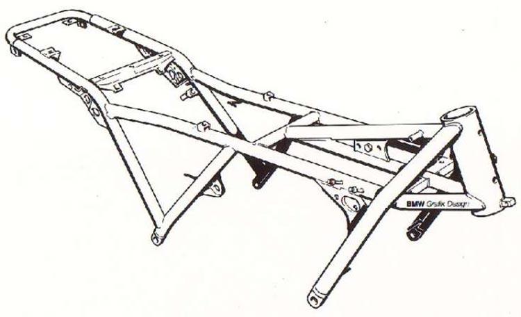 cadre bmw K100 et K 75