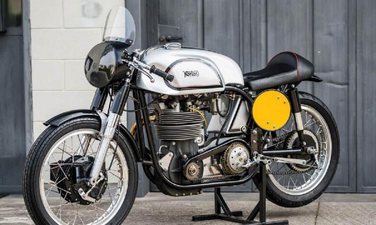 moto vintage : norton manx