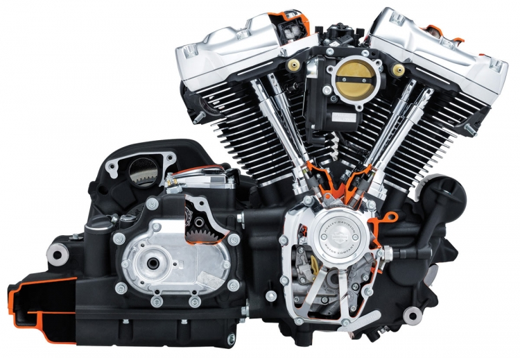 éclaté du moteur Harley-Davidson Milwaukee Eight 107 cui /114 cui
