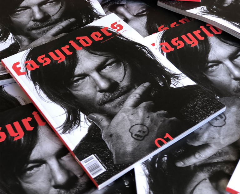norman reedus easyrider magazine