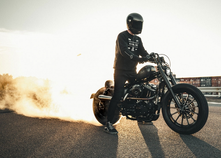 Sportster burn out