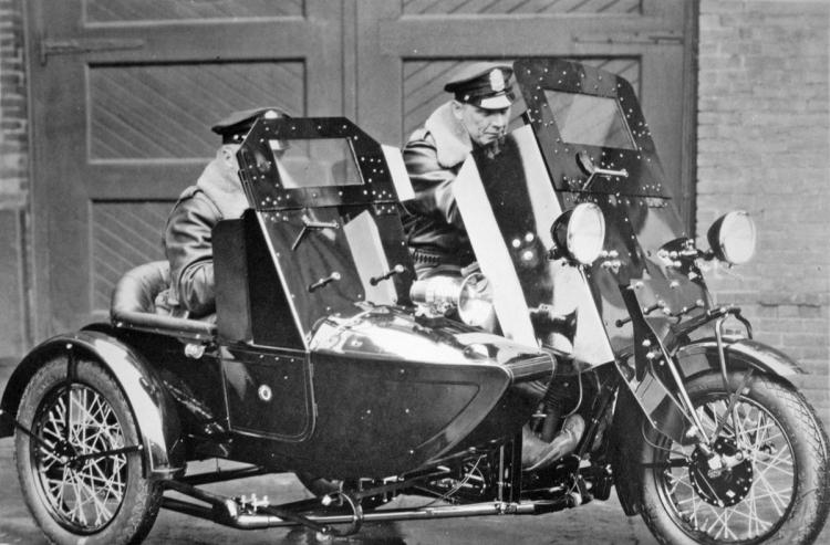 Sidecar police vintage