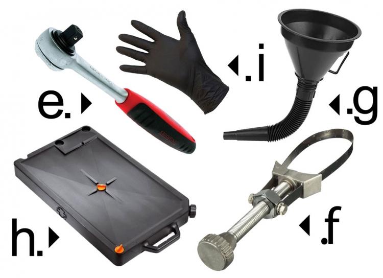 outils pour vidanger sa moto