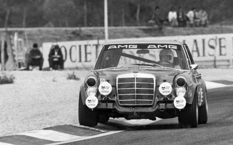 Red Pig AMG à  Spa-Francorchamps 1971.