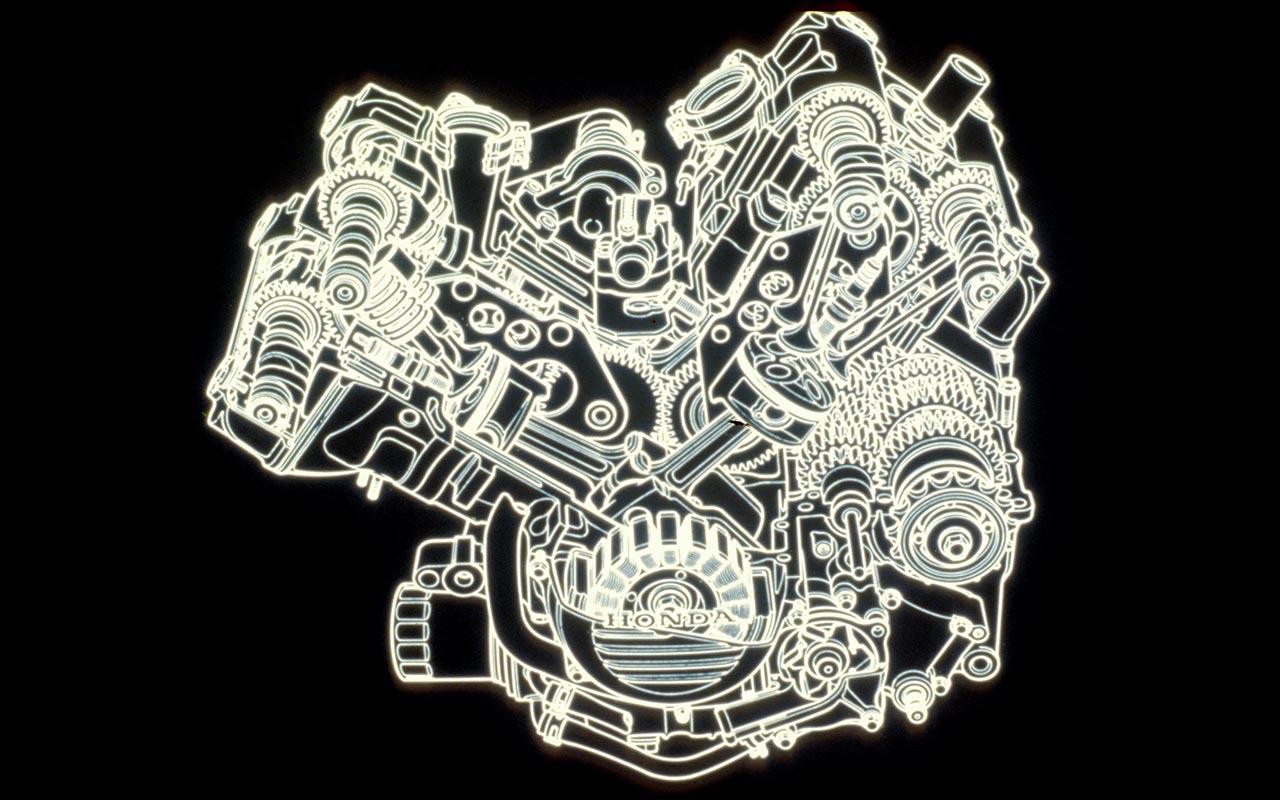moteur Honda V4 750 cc