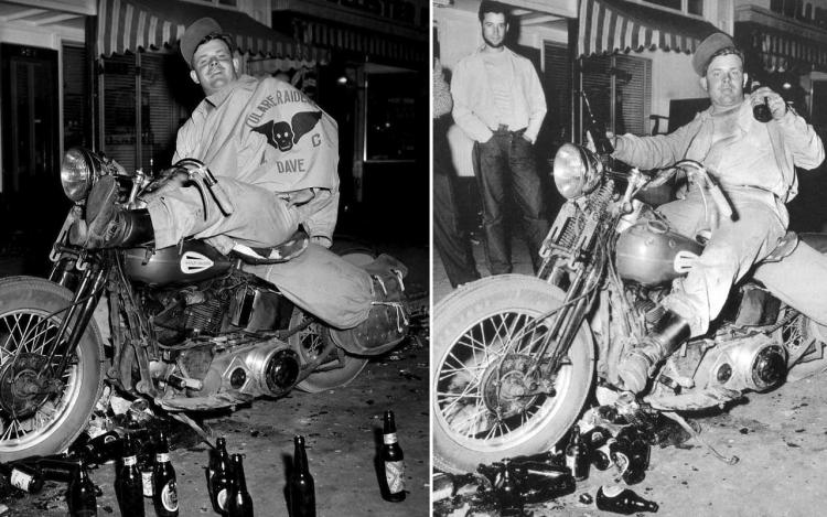 Biker à  Hollister le 4 juillet 1947